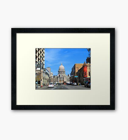 Down-Town Boise, IDAHO, USA Framed Print