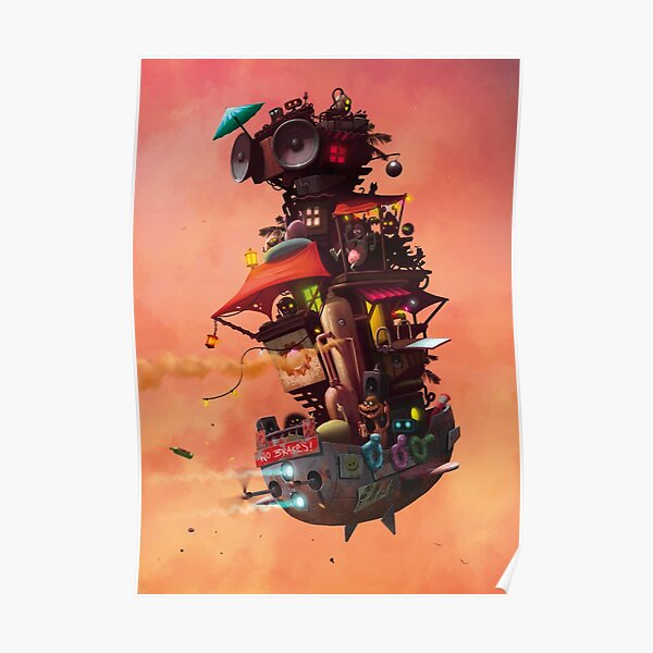 Flying Party Ship Poster