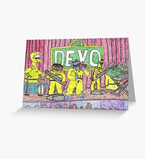Devo Sesame Street Greeting Card