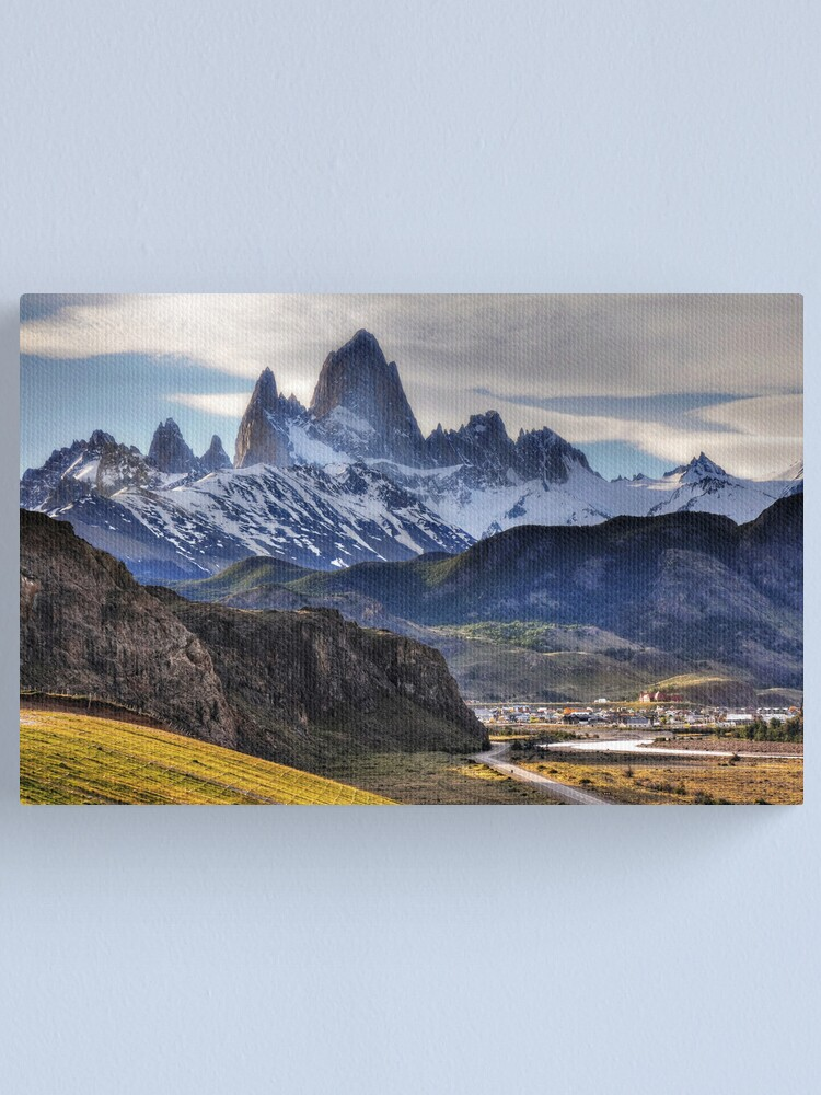 Alternate view of Mt Fitzroy and El Chalten Canvas Print