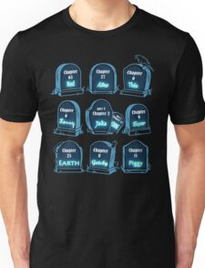 Spoiler Graveyard | Literary Characters Who Die in their Books T-Shirt