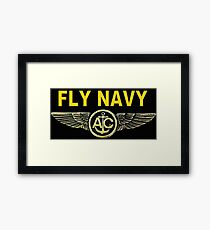 Navy Aircrew Wings for Dark Colors Framed Print