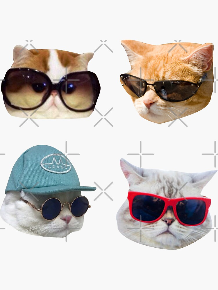 Cats With Glasses Stickers Pack by saracreates