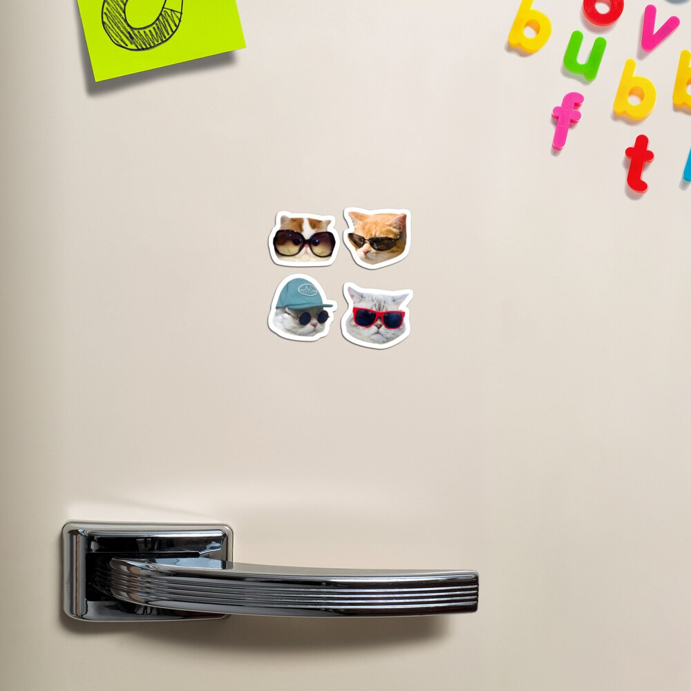 Cats With Glasses Stickers Pack Magnet