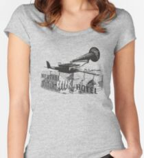 in the aeroplane over the sea Women's Fitted Scoop T-Shirt