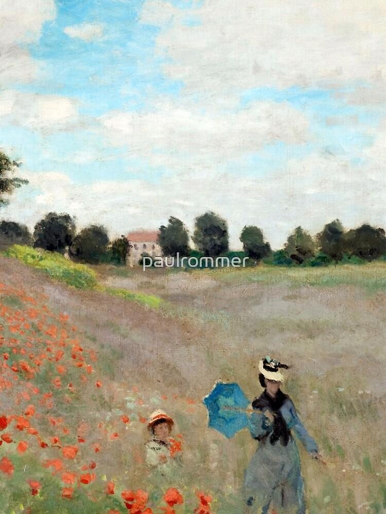 Poppy Field - Claude Monet - 1873 by paulrommer