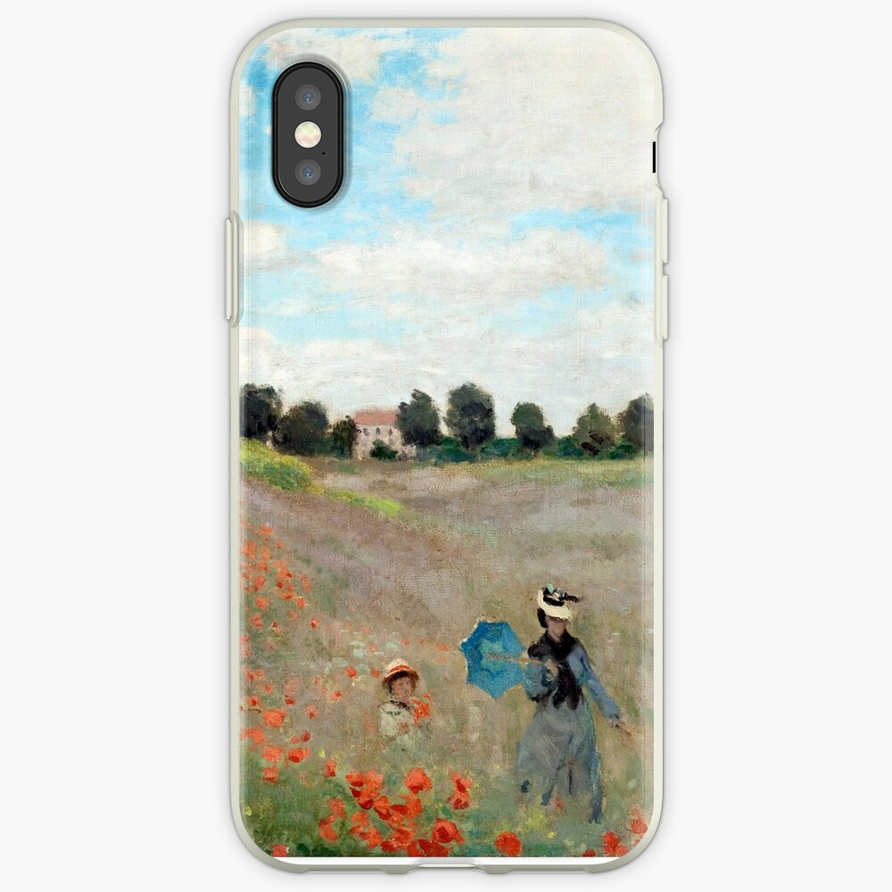 Poppy Field - Claude Monet - 1873 iPhone Cases & Covers