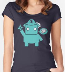 Ninja, Pirate, Robot, Zombie | Cute Geek Character Women's Fitted Scoop T-Shirt