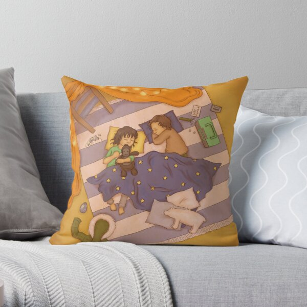 Too much adventure Throw Pillow
