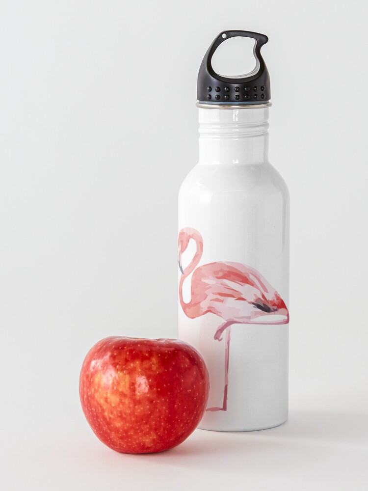 Alternate view of Watercolor Standing Flamingo Water Bottle