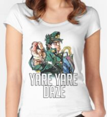 Jotaro Kujo YARE YARE DAZE T-Shirt Women's Fitted Scoop T-Shirt