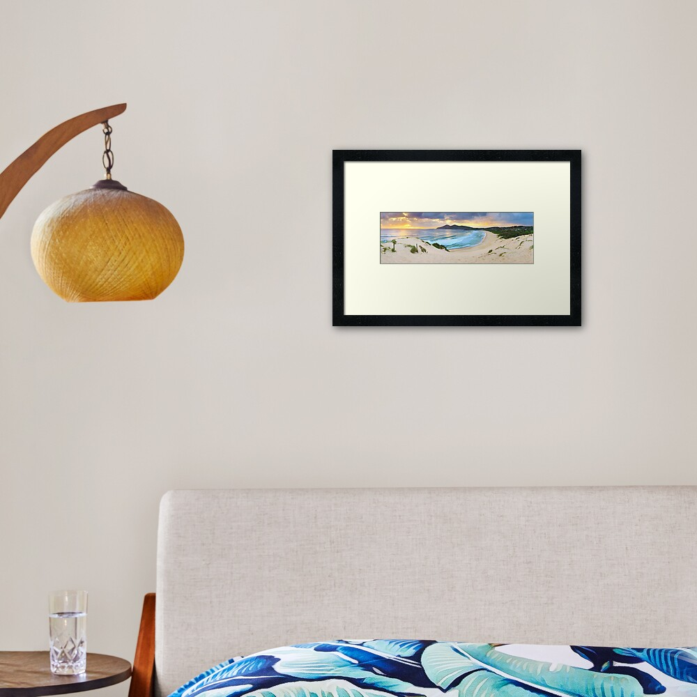 Forster Beach, New South Wales, Australia Framed Art Print