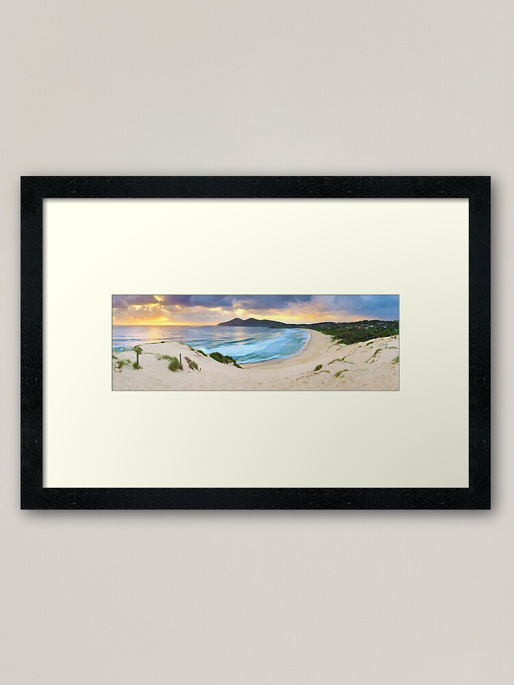 Alternate view of Forster Beach, New South Wales, Australia Framed Art Print