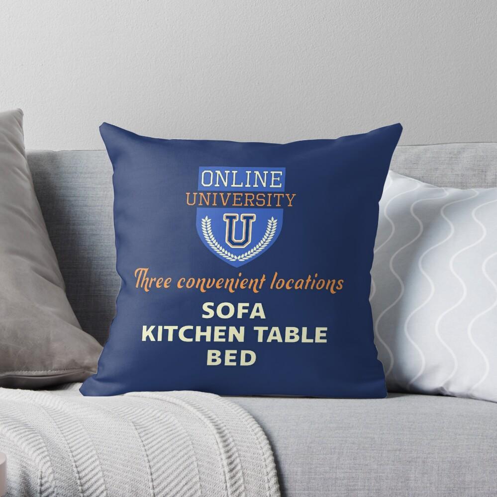 Online University. Throw Pillow