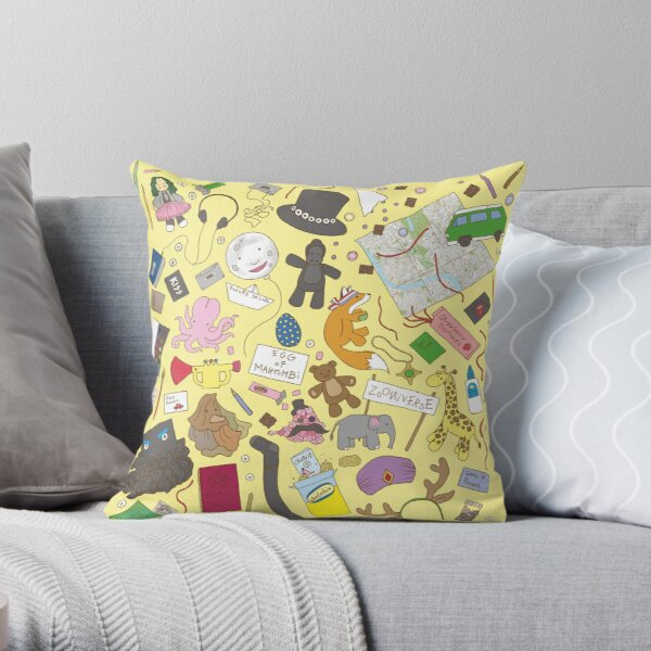 Boosh pattern Throw Pillow