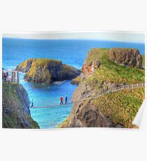 The rock in the road - Carrick-a-Rede Poster