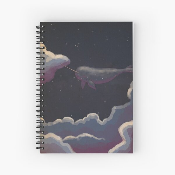 Starwhale above the clouds Spiral Notebook
