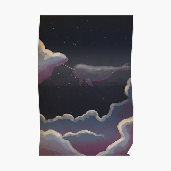 Starwhale above the clouds Poster