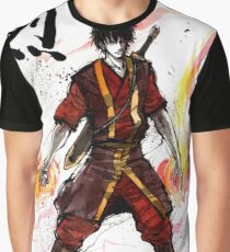 Zuko from Avatar with sumi ink and watercolor Graphic T-Shirt