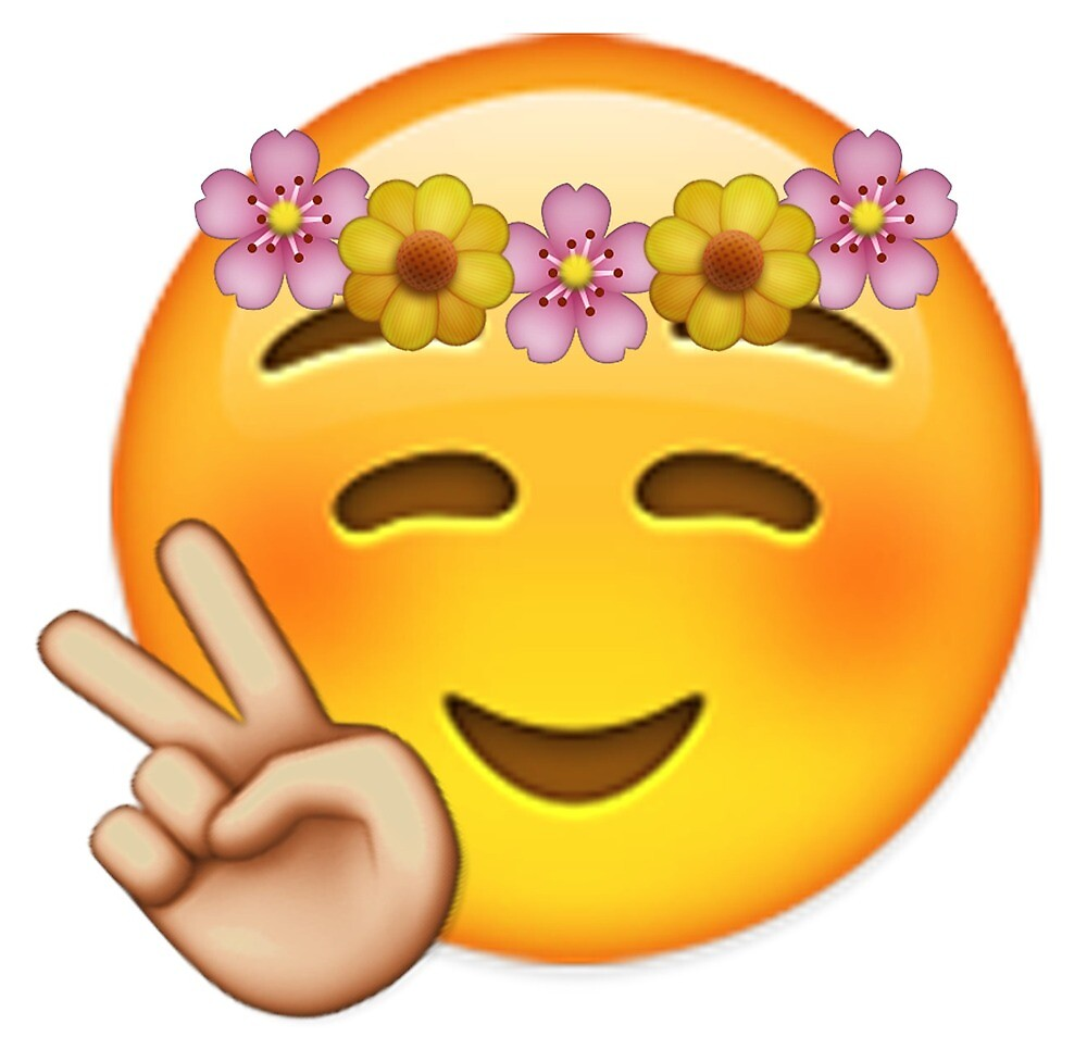 Emoji Flower Child By FredrikTDG
