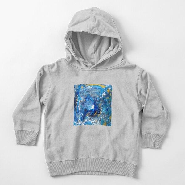 Supernova Ocean (Balloon-dip Acrylic Pour) Toddler Pullover Hoodie