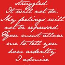 PRIDE AND PREJUDICE JANE AUSTEN MR. DARCY ENGAGEMENT SPEECH  by fandomfashions