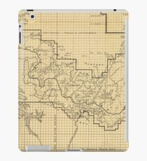 Vintage Map of The Grand Canyon (1908) iPad Case/Skin