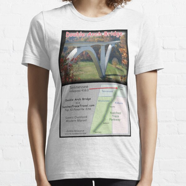 Double Arch Bridge on the Natchez Trace Parkway. Essential T-Shirt