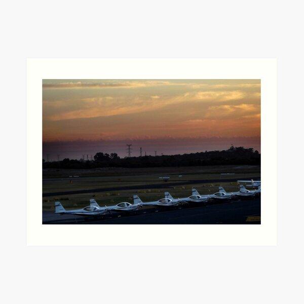 Jandakot Airport at Dusk Art Print