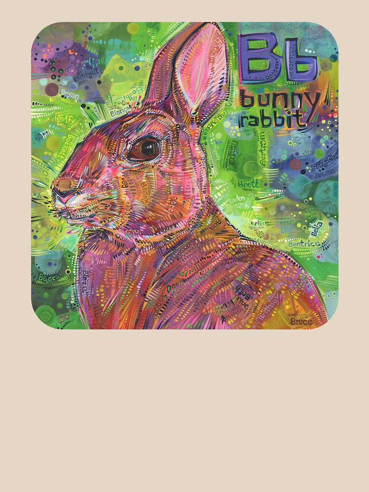 B Is for Bunny Rabbit - 2020 by gwennpaints