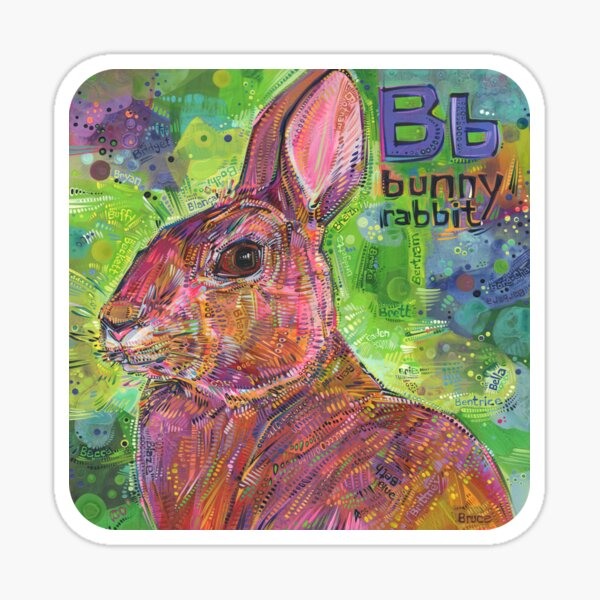B Is for Bunny Rabbit - 2020 Sticker