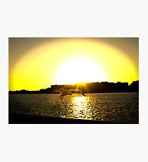 Sunset At The Port Photographic Print