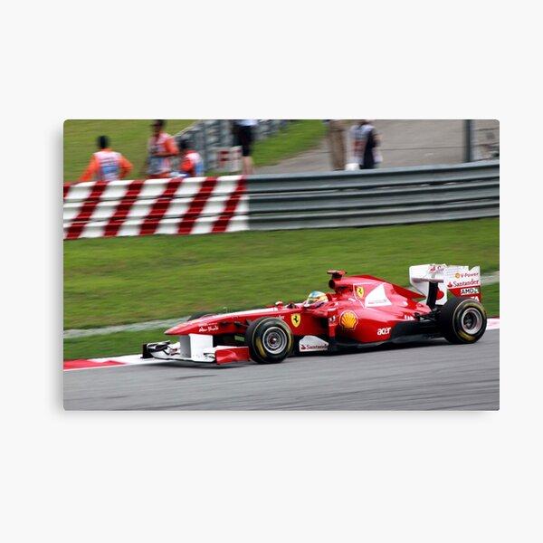 Fernando Alonso in his Ferrari  Canvas Print
