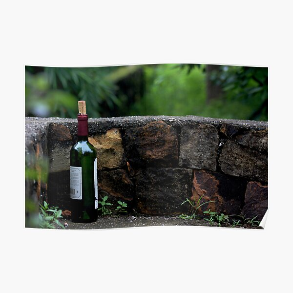 Memories Remain - A Wine Bottle Poster