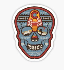 Red Rocks Sugar Skull Sticker