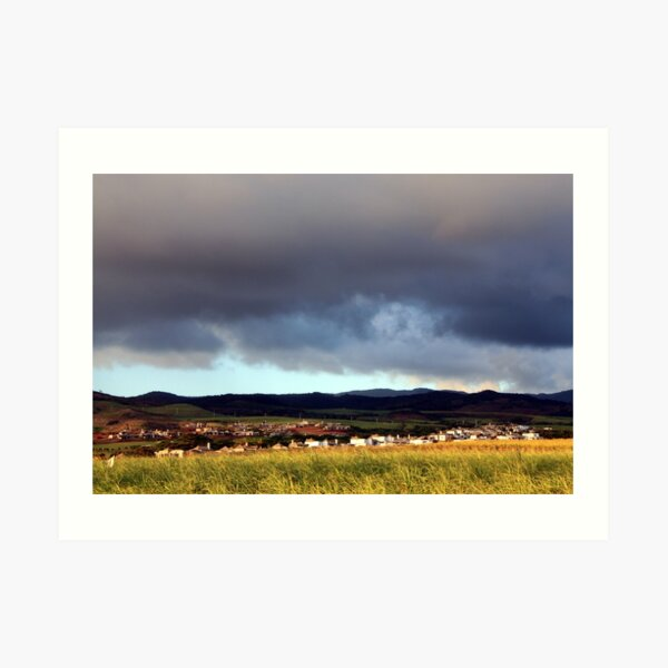 Storm Around the Country Side Art Print