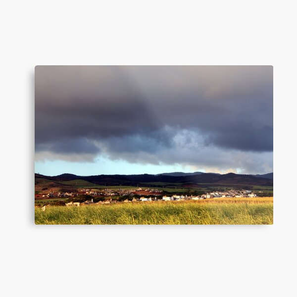 Storm Around the Country Side Metal Print