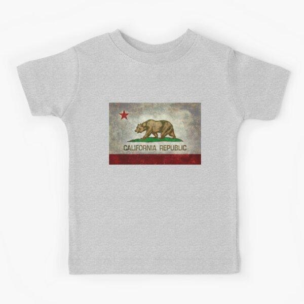 California Republic state flag - Vintage retro version Kids T-Shirt