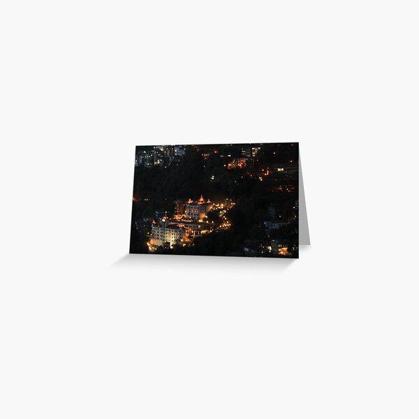 Shimla at Night, Himalayas, India Greeting Card