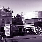 Piccadilly Circus, London - A Vintage Look by 3rdeyelens