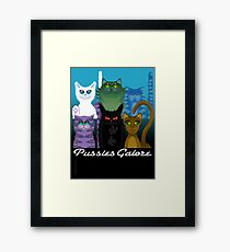 PUSSIES GALORE Framed Print