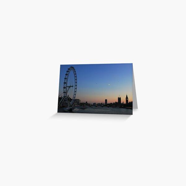 London Eye, Big Ben and Westminster Bridge, London Greeting Card
