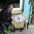 People in Istanbul - BULMACA - Newspaper (2) by Marjolein Katsma