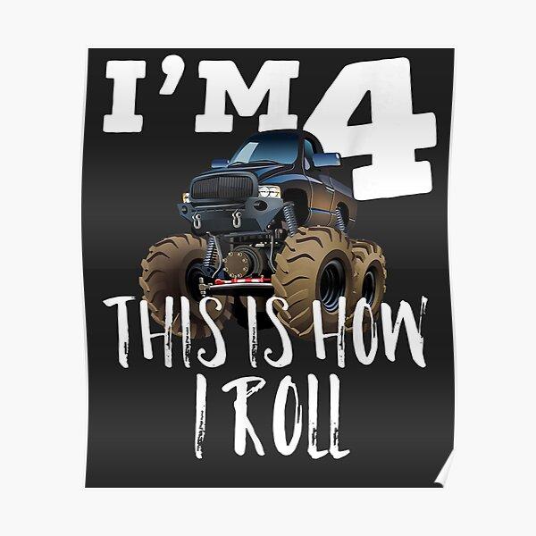 4th Birthday Boy - Monster Truck Rule JAM Poster