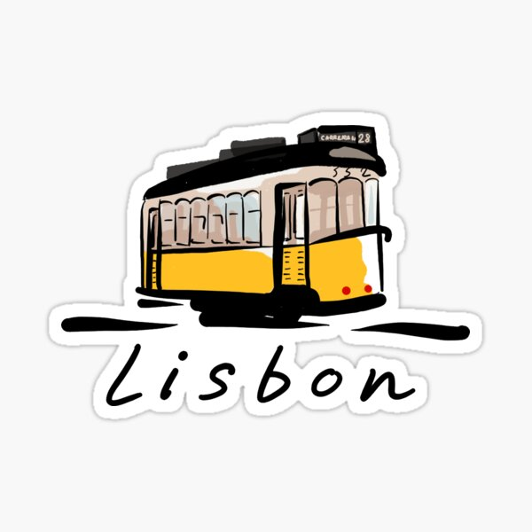 Lisbon illustration | Chiado | Portugal Sticker