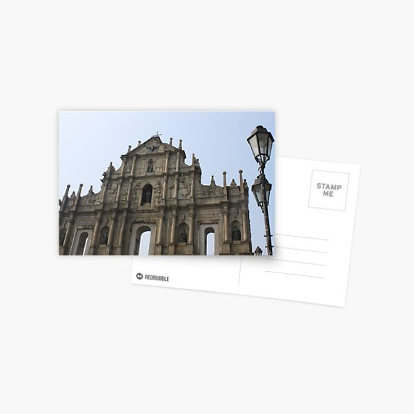 The Ruins of St. Paul's, Macau Postcard