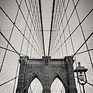 New York City, Brooklyn Bridge   B/W von thomasrichter