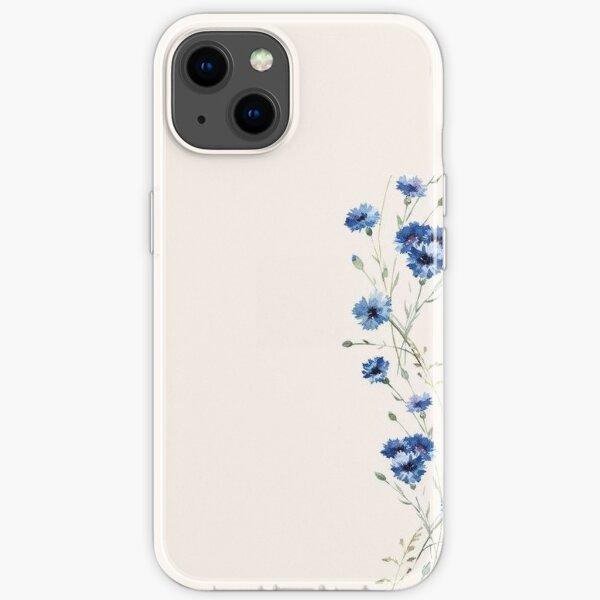 Blue Flower iPhone Soft Case