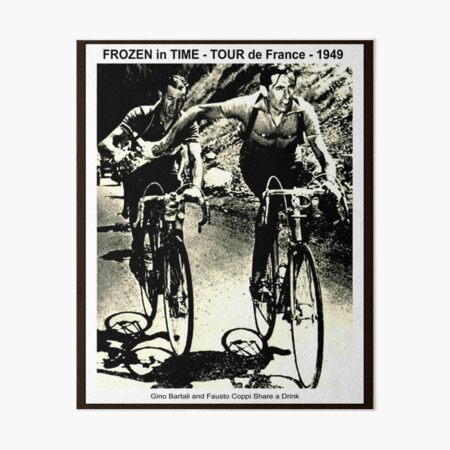 TOUR de FRANCE : Vintage 1949 Gino Sharing Drink with Fausto Print Art Board Print