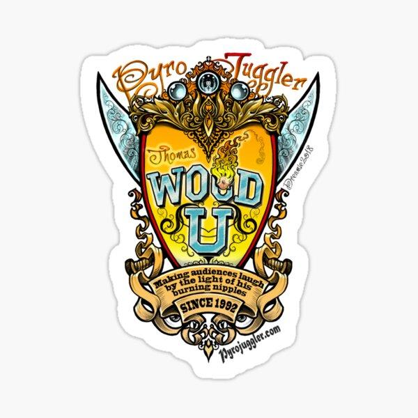 WOOD U Pyrojuggler Crest Sticker